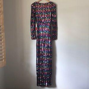 Vintage Rainbow sequin maxi dress